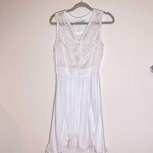 Maurice's White Crochet summer dress.